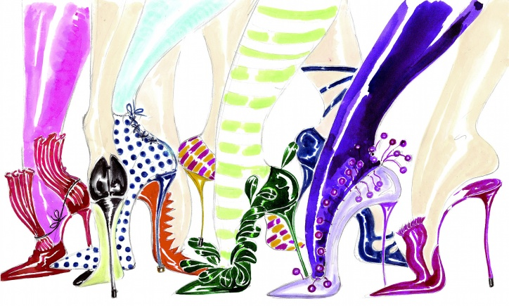 BYCHILL Manolo Blahnik heels Illustration