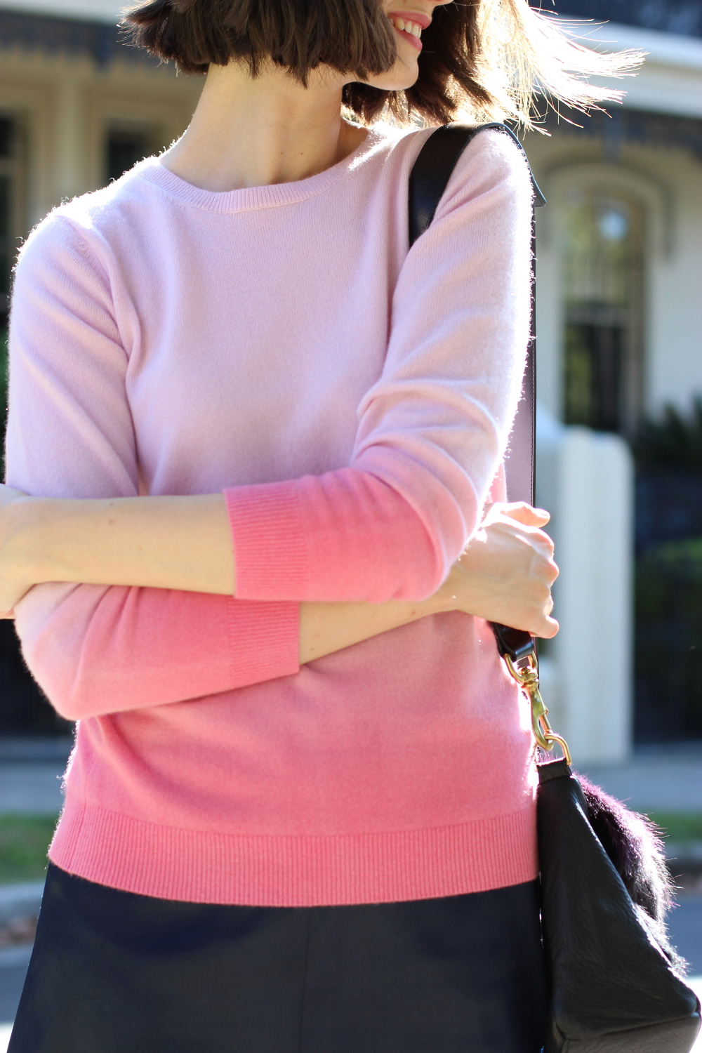 BY CHILL BLOG Pink cashmere sweater by Boden Clothing
