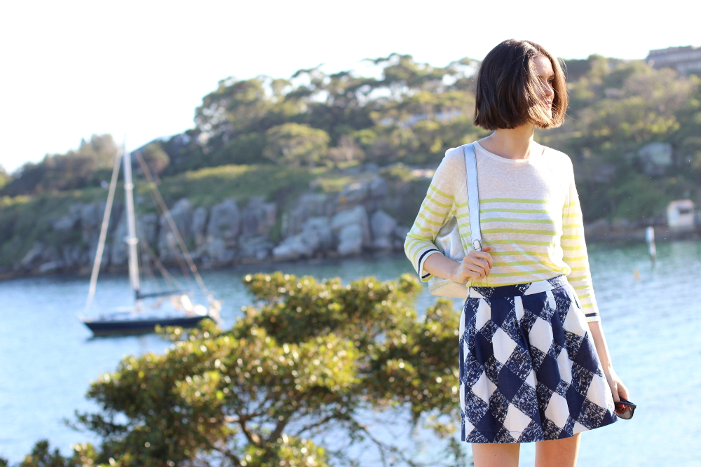 BY CHILL TRAVEL | Chloe Hill at Camp Cove beach, near watsons bay sydney, wearing Boden clothing