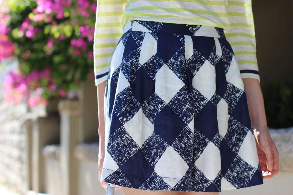BYCHILL BLOG | Boden clothing check print liene skirt