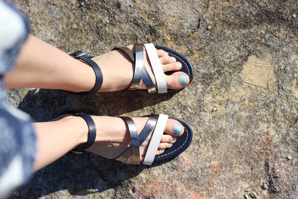 BYCHILL BLOG | Boden clothing navy and silver sandals