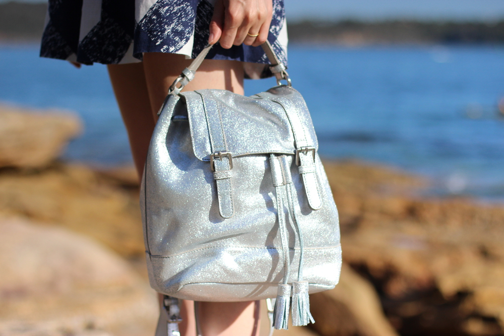BYCHILL BLOG | Boden clothing silver metallic backpack