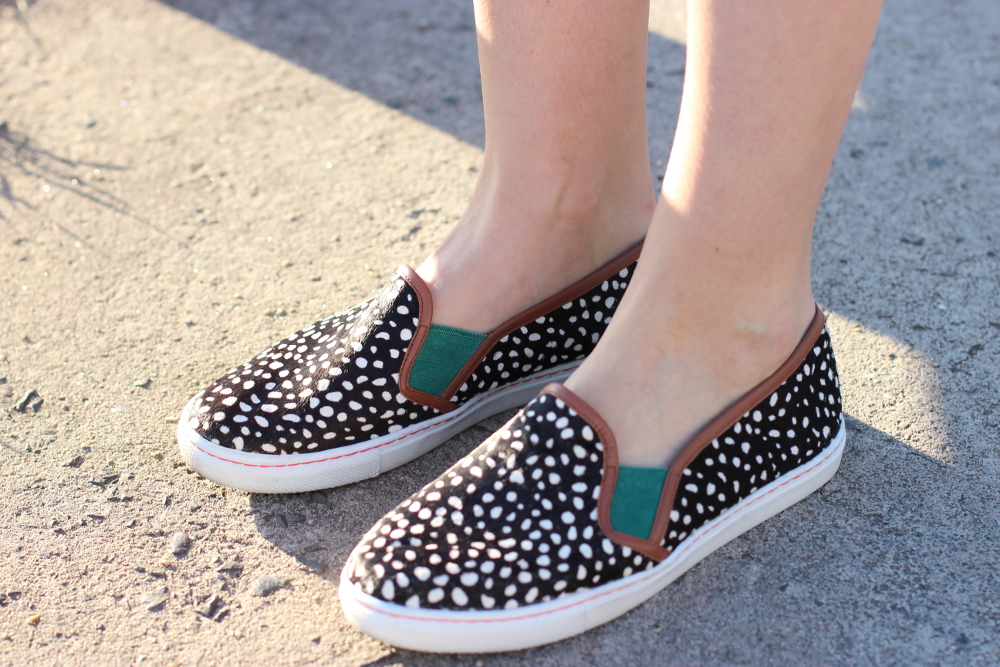 BYCHILL SYDNEY STYLE BLOG | Boden Clothing monochrome spotted slip on trainer shoe